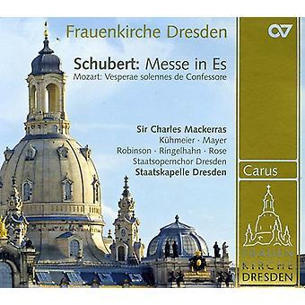 Schubert/Mozart - Schubert: Messe i Es; Mozart: Vesparae Solennes De Confessore [CD] USA importerer
