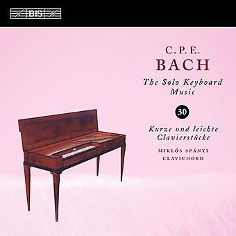 Bach, C.P.E. / Spanyi, Miklos - Solo Keyboard Music 30 [CD] USA import