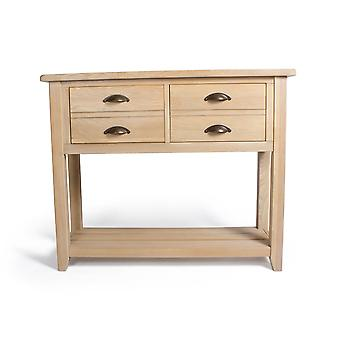 Direct Home Living Oak Liberty Console Table With Drawers