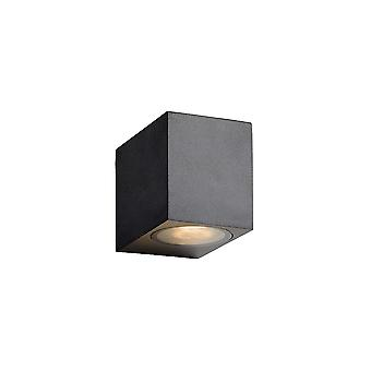 Lucide ZORA-LED Wall Light GU10/5W L9 W6.5 H8cm Black