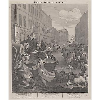 William Hogarth - The Second Stage of Cruelty Poster Print Giclee