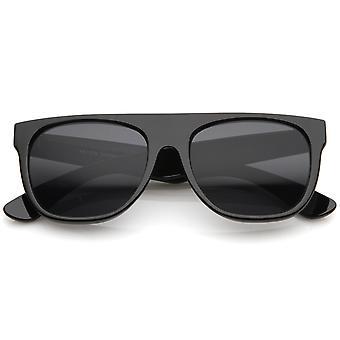 Moderne Super fladskærms-Top hele templet Horn kantede solbriller 55mm