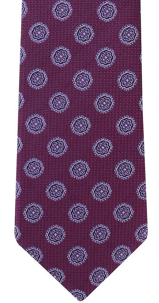 Michelsons of London Floral Medallion Silk Tie - Pink
