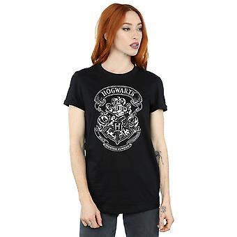 Harry Potter vrouwen Zweinstein Crest Boyfriend Fit T-Shirt