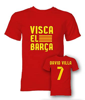 David Villa Visca El Barca Hero T-Shirt (Red)