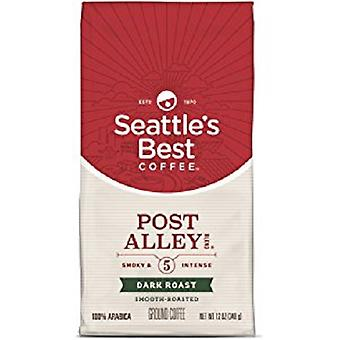Seattle's beste Post Alley Blend Dark Roast gemalen koffie 2 Bag Pack