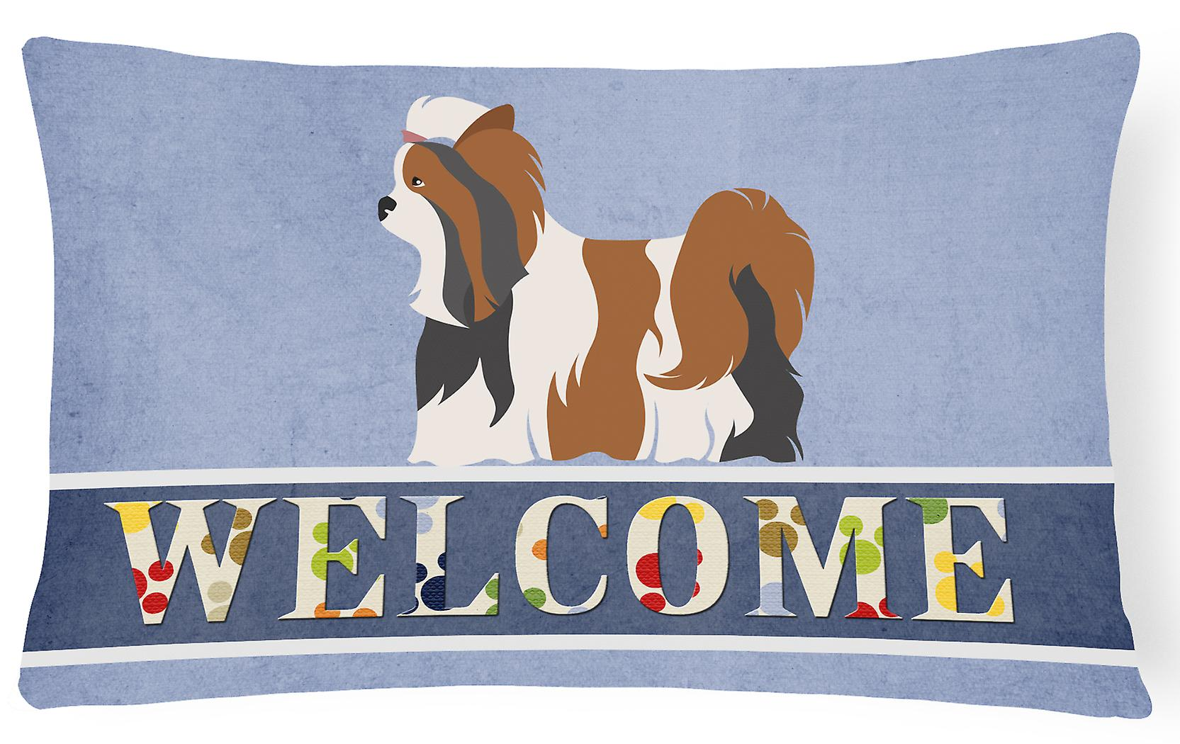 Welcome Canvas Pillow Terrier Biewer Decorative Fabric oWrBdCex