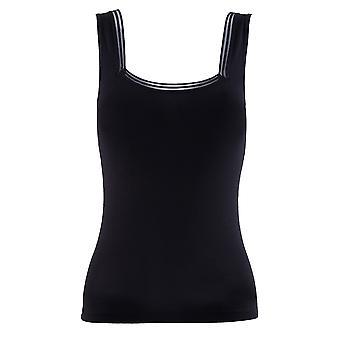 BlackSpade Essential Black Cotton Tulle Singlet Vest Top 1968