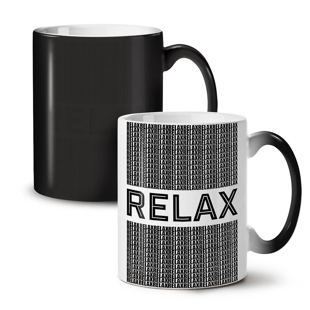 Citer Chill Céramique Couleur Nouvelle Noir Relax Tasse 11 OzWellcoda Thé Café Changeant CWorxdeB