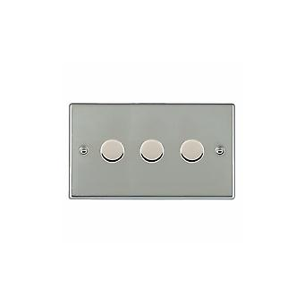 Hamilton Litestat Hartland Bright Stainless Chrome 3g 400W 2 Way Dimmer BS