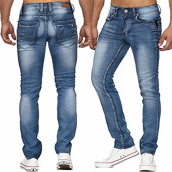 Men long jeans men denim pants quality leatherette flag new stonewashed
