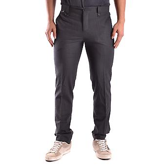 Bikkembergs men's MCBI042036O black polyester pants