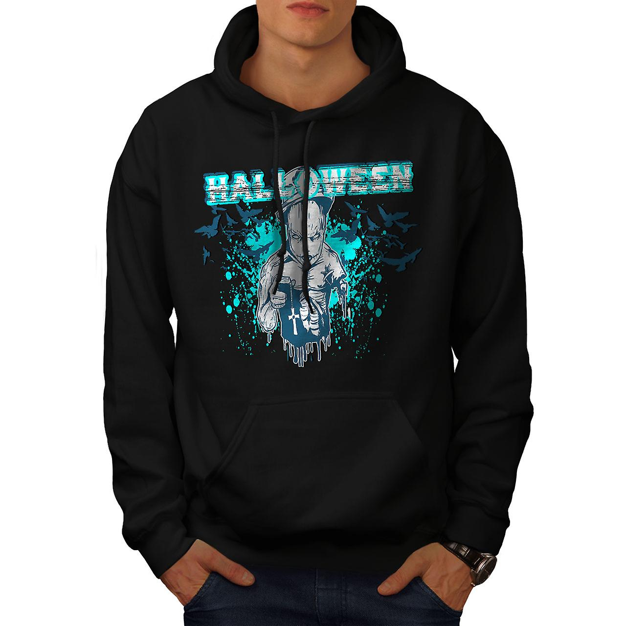 Halloween Horror Cult Men Black Hoodie | Wellcoda