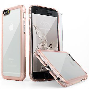 SaharaCase® iPhone 6s/6 caja de oro rosa, paquete de Kit de protección claro con ZeroDamage® vidrio templado
