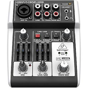 Mixing console Behringer Xenyx 302USB No. of channels:2 USB port