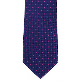 Michelsons London traditionella spot Silk Tie - Royal blå/Rosa