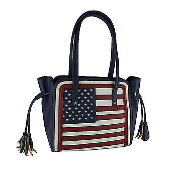 Estrellas y rayas rojo blanco y azul bolso bandera americana