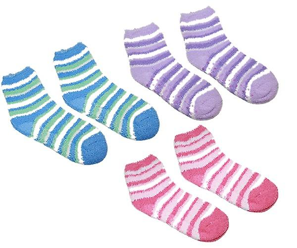 Comfy Super Soft Non-Slip Sole Socks Per Pair - Stripped
