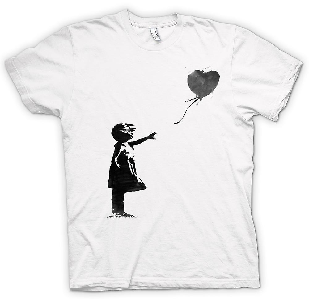 Womens T-shirt - Banksy Graffiti-Kunst - Ballon