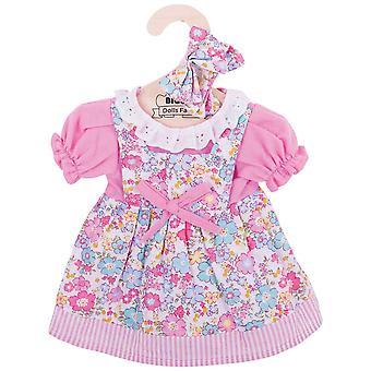 Bigjigs speelgoed roze bloemen Rag Doll Dress (38cm) kleding Outfit aankleden