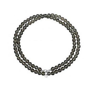 ESPRIT women's chain necklace charm silver of taupe stones ESNL91755I800