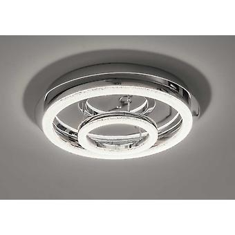 Led ceiling lamp Crilou RO-L Ø50cm Crystal diffuser 36W 4000 K chrome 10740