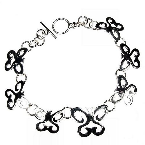 Schmetterlings-Tanz-Silber-Armband