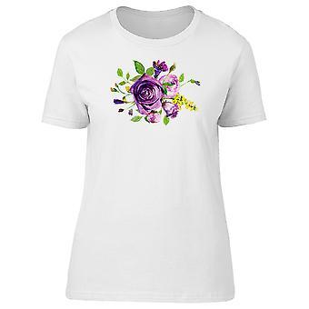 Purple Semi Wreath Flowers Tee Women's -Image by Shutterstock