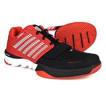 K-Swiss X corte zapatillas hombres rojo / negro