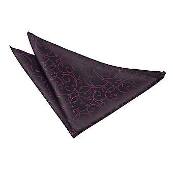 Black & Purple Swirl Handkerchief / Pocket Square