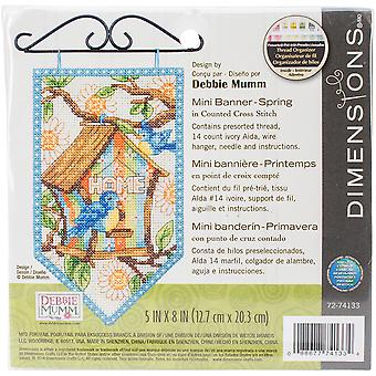 Debbie Mumm Spring Banner Counted Cross Stitch Kit-5
