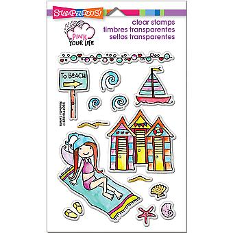 Stampendous Pink Your Life Perfectly Clear Stamps 7.25