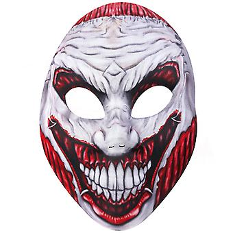 Horror mask torn eyes and mouth Halloween horror Monster