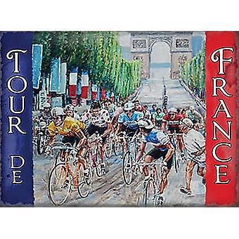 Tour De France kleine Metall unterzeichnen 200 X 150 Mm
