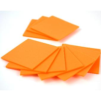 10 Orange Small Craft Foam Squares | Childrens Craft Foam