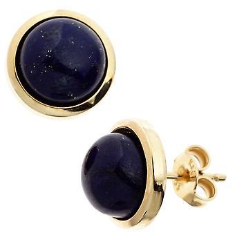 Gemstone Stud Earrings boutons 585 Gold Yellow Gold 2 lapis lazuli earrings gold lapis lazuli earrings
