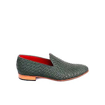 Handcrafted Premium Leather Aiken Green Loafer