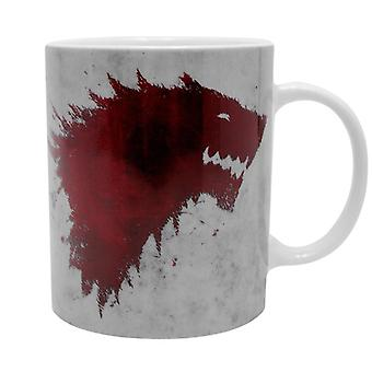 Game of Thrones Cup of The North remembers white, printed, ceramic, capacity approx. 320 ml., in a gift box.