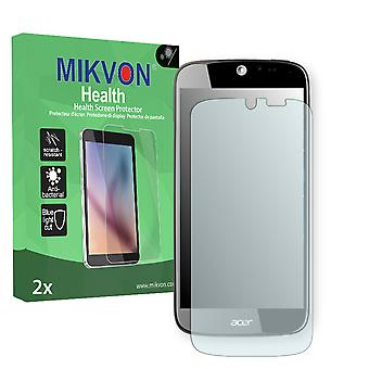 Acer Liquid Jade S55 Screen Protector - Mikvon Health (Retail Package with accessories) (intentionally smaller than the display due to its curved surface)