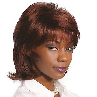 Fashion women medium straight Saxon wig