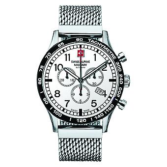 Swiss Alpine military men's watch Chrono 1746.9132SAM stainless steel