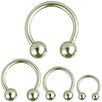Circular Barbell Horseshoe Piercing, Body Jewellery, Thickness 3,2 mm | Diameter 10 - 22 mm