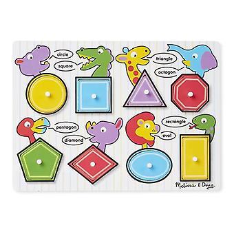 Melissa & Doug Shapes Peg Puzzle 3+