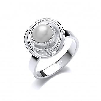Cavendish französische Silber- und verschachtelte Perlenring
