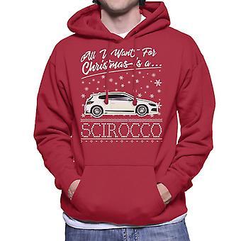 All I Want For Christmas è una Scirocco felpa con cappuccio