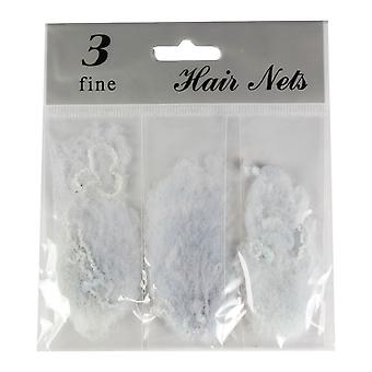 Molly & Rose Fine Hair Net 3pk Grey