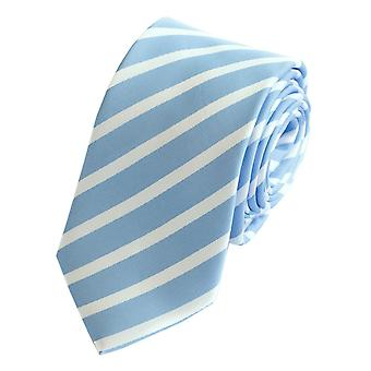 Tie tie tie tie 6cm light blue blue Fabio Farini white striped