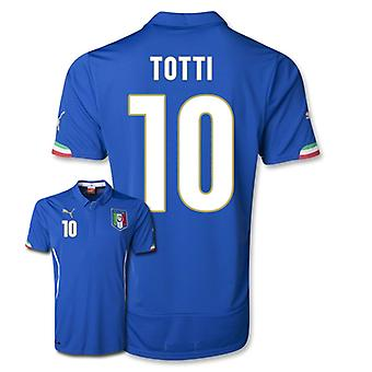 2014-15 Italy World Cup Home Shirt (Totti 10)