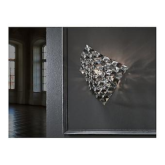 Schuller Saten Chrome And Clear Diamante Wall Object Light
