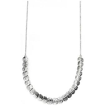 Beginnings Hammered Disc Articulated Necklace - Silver